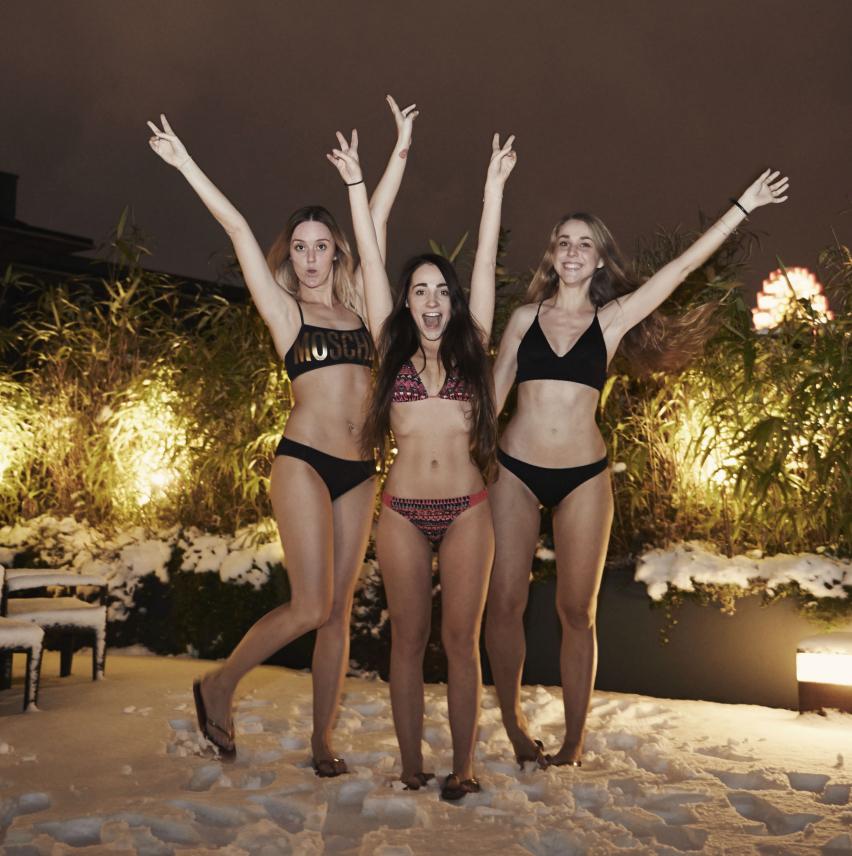 perstrip van haren x sylvie meis bikini in de sneeuw